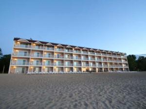 The beach at Bayshore Resort.