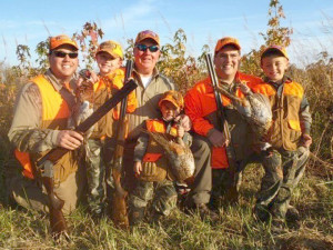 Family hunting event at Deer Creek Lodge.