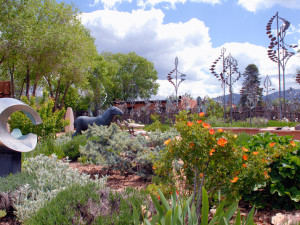 Canyon Road Sculpture Gallery Garden at Hotel St. Francis.
