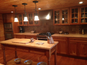 Kitchen view at Lodge of Whispering Pines.