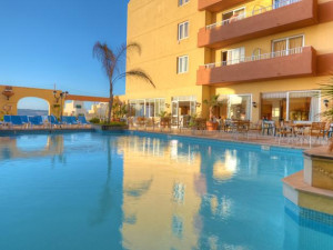 Outdoor pool at Luna Holiday Complex.
