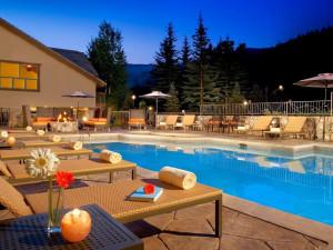 Outdoor pool at The Osprey at Beaver Creek, A Rock Resort.