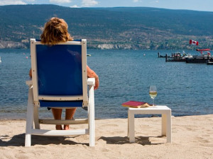 The beach at Summerland Waterfront Resort.