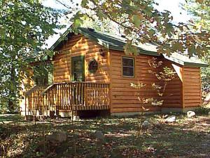 Cabin exterior at Galles' Upper Cullen Resort.