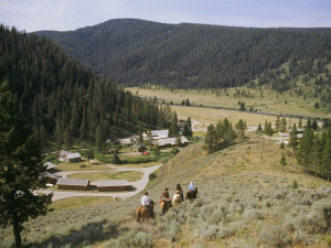 Horseback riding at 320 Guest Ranch.