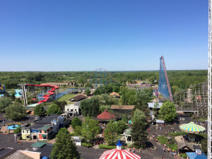 Amusement park view at Darien Lake Resort.