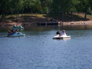 Paddle boats at Canyon Lake Resort.