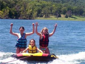 Water activities at Green Valley Resort.