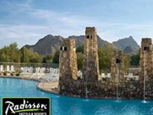 The fountains of Radisson Fort McDowell Resort