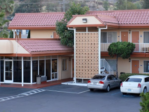 Exterior view of Relax Inn & Suites.