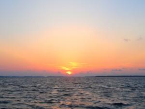 Sunset at Sand Cay Beach Resort.
