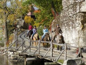 Horseback riding at Mohonk Mountain House.