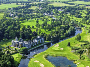 Aerial view of Adare Manor Hotel and Golf Resort.