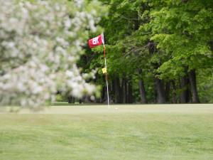 Golf course near Lynne Parks '68 SUNY Cortland Alumni House.