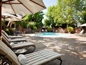 Outdoor pool at Harvest Inn by Charlie Palmer.