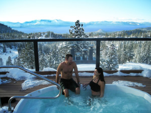 Hot tub at The Ridge Resorts.