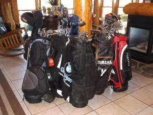 Golf bags at Golfview Vacation Rentals.