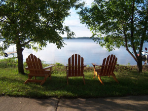 Relax by the lake at Pocahontas Resort.