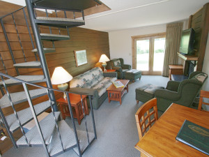 Cabin interior at Ruttger's Bay Lake Lodge