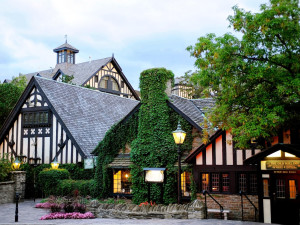 Exterior view of Old Mill Inn and Spa.