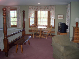 Guest room at The Inn at Willow Pond.