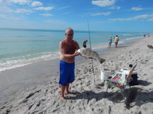Fishing at Sea Oats Beach Club.