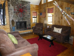 Cabin living room at Deadwood Connections.