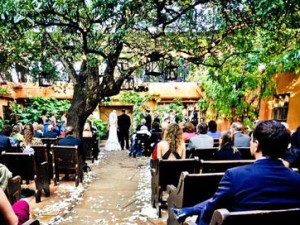 Wedding ceremony at Trois Estate at Enchanted Rock.
