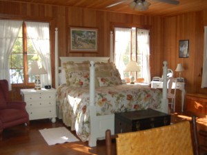 The Master Bedroom at Xanadu Island Bed & Breakfast and Resort.