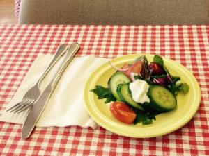 Salad at Crooked Lake Wilderness Lodge.