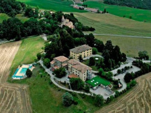 Aerial view of Palazzo Loup Hotel.