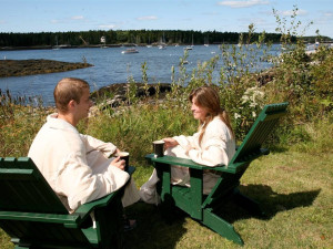 Couple at Sebasco Harbor Resort.