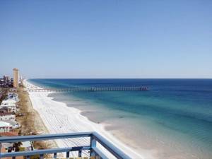 View of beach from Paradise Gulf Properties.