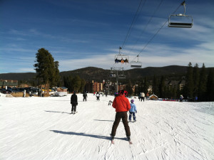 Skiing at Breckenridge Resort Mangers.