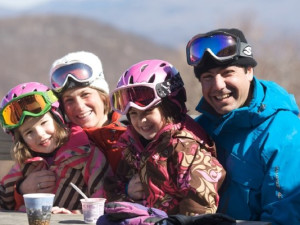 Family ski fun at Jiminy Peak Mountain Resort.
