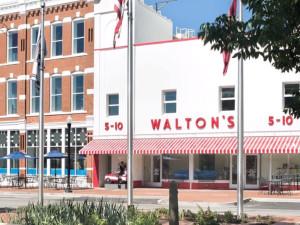 Walton's 5-10 Walmart Museum near South Walton Suites.