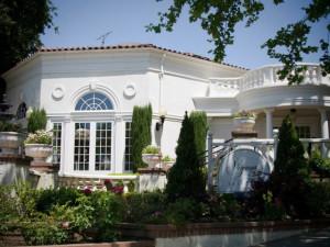 Exterior view of Vizcaya Pavilion & Mansion.