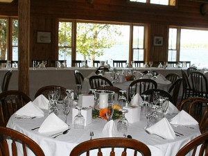 Fine dining at Bald Mountain Camps Resort.