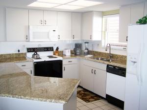 Rental kitchen at Gulf Strand Resort.