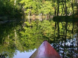 Canoeing at Highland Pines Resort.