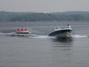 Boating at Sandy Lane Resort.