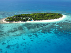 Aerial view of Treasure Island Resort.