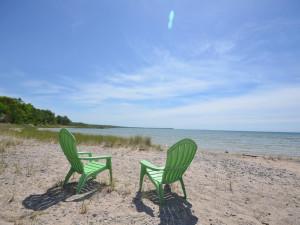 Lake view at Visit Up North Vacation Rentals.