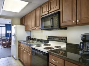 Guest kitchen at Landmark Resort.