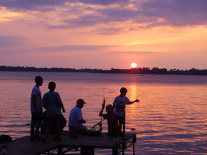 Fishing at Minnesota's Sunset Shores Resort.