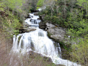 Waterfall at Chambers Realty & Vacation Rentals.