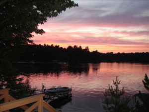 Lake sunset at Sill's Lakeshore Resort.