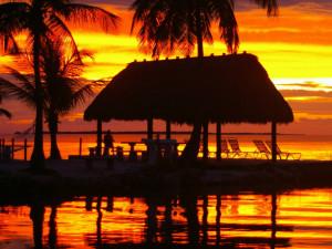 Sunset at Rock Reef Resort.