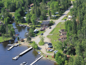 Aerial view of Voyageur's Sunrise Resort.