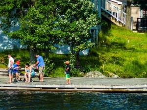 Fishing at Lantern Bay Resort.